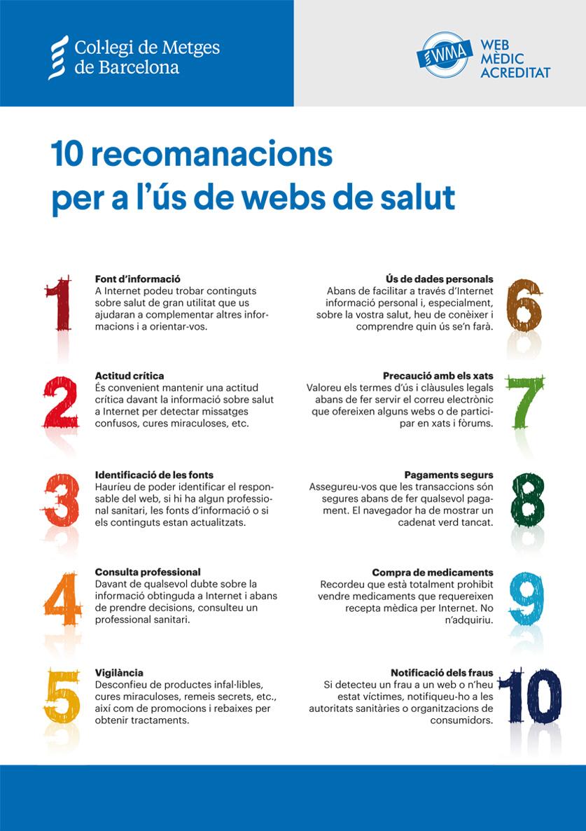 10 recomanacions per a l'ús de webs de salut
