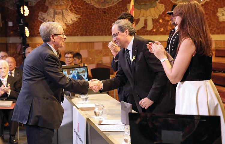 Lliurament de la Creu de Sant Jordi a Joan Viñas i a la Fundació Alzheimer Catalunya