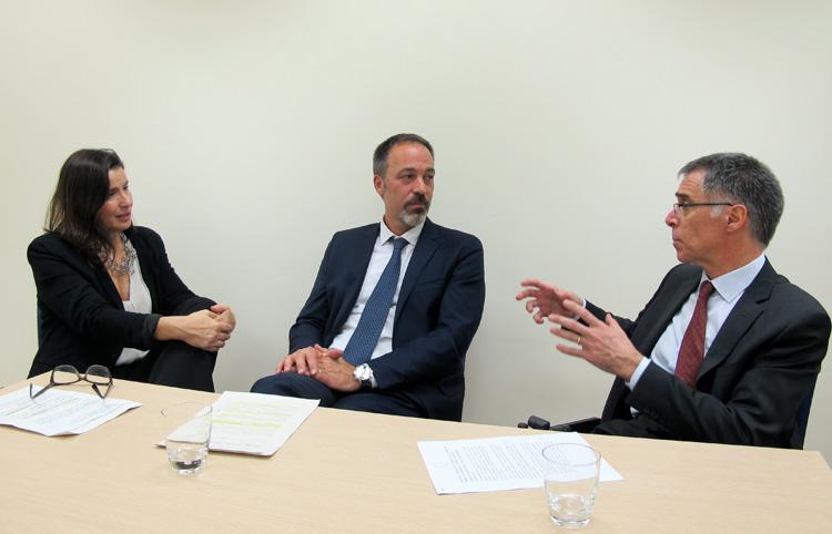 Elvira Bisbe, Ferran Collado i Antoni Castells.