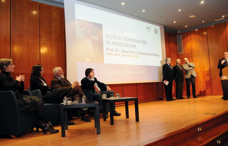 Homenatge al professor Josep Maria Domènech Mateu