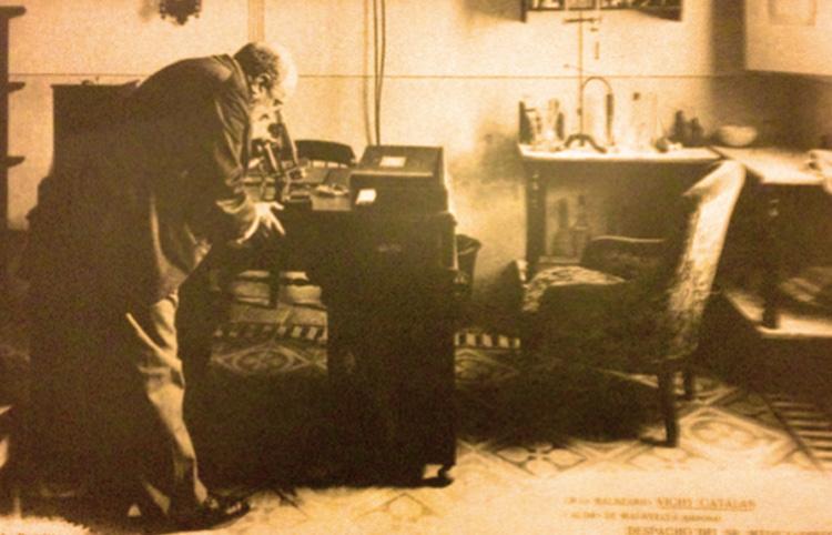 Despatx del metge, Modest Furest, al Balneari Vichy Catalán. Caldes de Malavella, c. anys 1920. [Balneari Vichy Catalán]