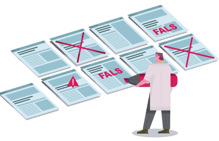 Com combatre  les 'fake news' de salut a la xarxa