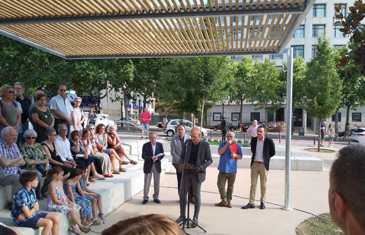 Inauguració de la plaça del Doctor Selga a Manresa.