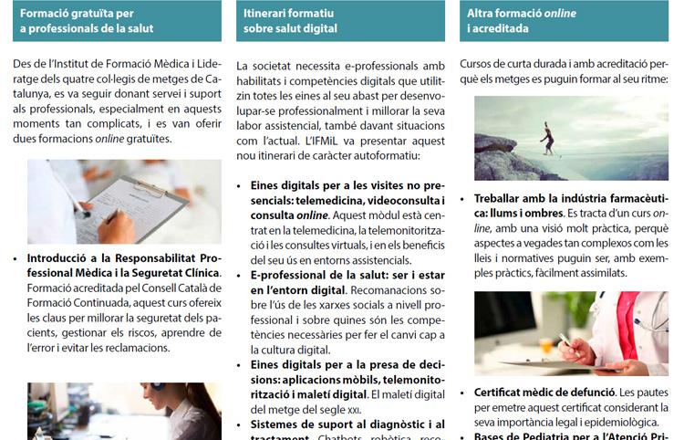 L'IFMiL centra les seves activitats durant  la pandèmia en la formació online