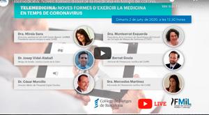 Telemedicina, noves formes  d'exercir la medicina en temps   de coronavirus