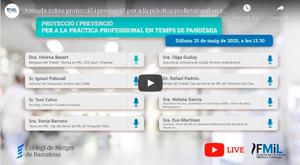 Protecció i prevenció per a la pràctica professional en temps de pandèmia