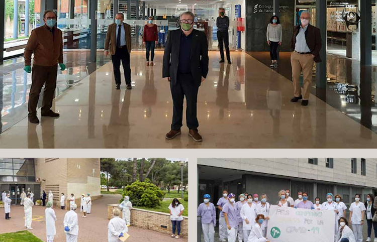 Homenatge als metges en la lluita contra la pandèmia